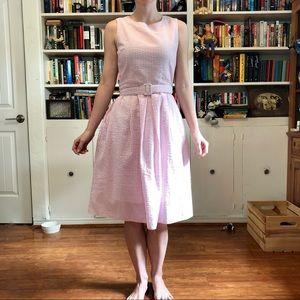 Pink striped Lindy Bop dress